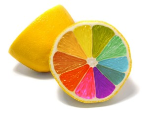 Colorful Lemon Background